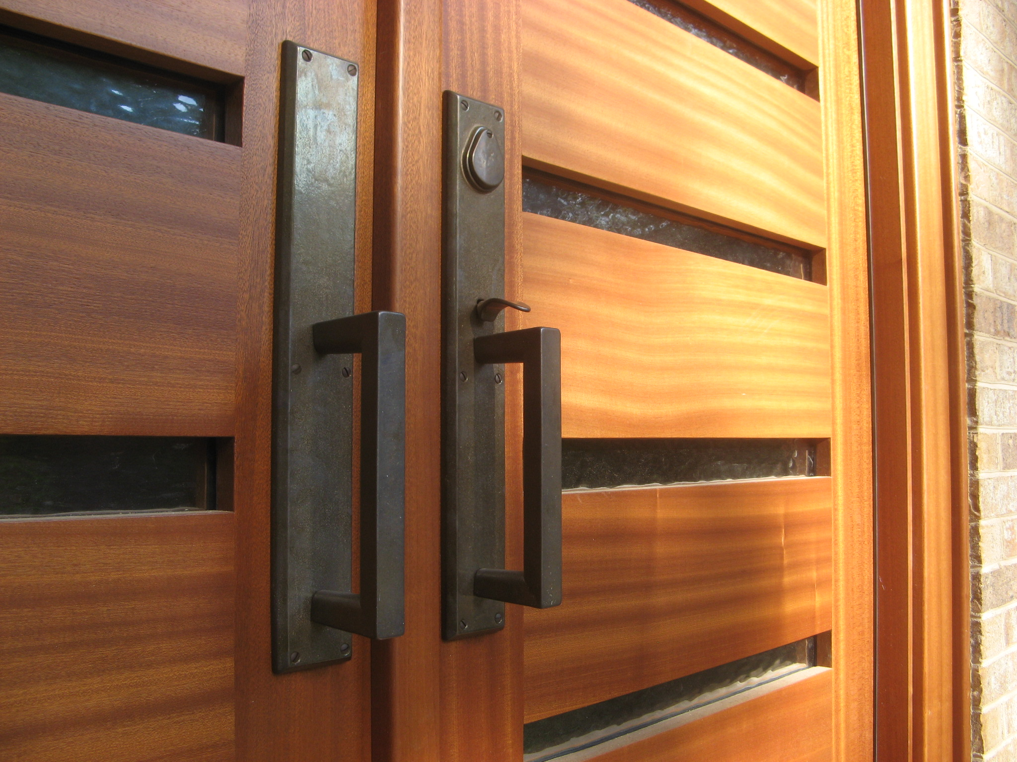 Wooden single door modern design joy studio design for Exterior doors and windows